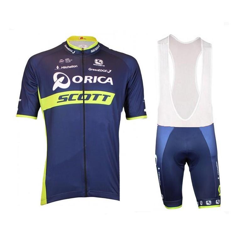 Ensemble cuissard vélo et maillot cyclisme équipe pro Orica Scott 2017