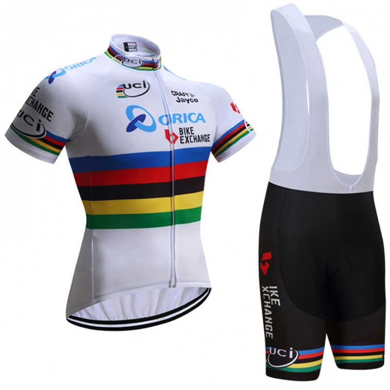 Ensemble cuissard vélo et maillot cyclisme équipe pro UCI Orica