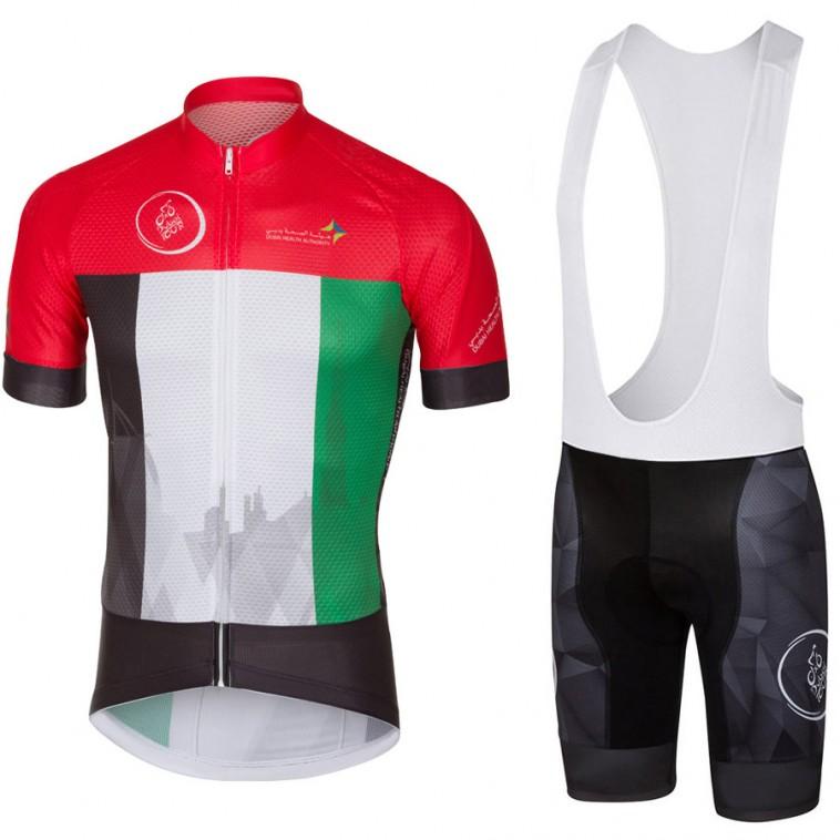 Ensemble cuissard vélo et maillot cyclisme pro Dubai Tour