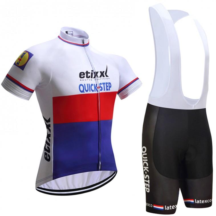 Ensemble cuissard vélo et maillot cyclisme équipe pro Etixx Quick Step