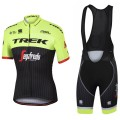 Ensemble cuissard vélo et maillot cyclisme équipe pro Trek Segafredo jaune