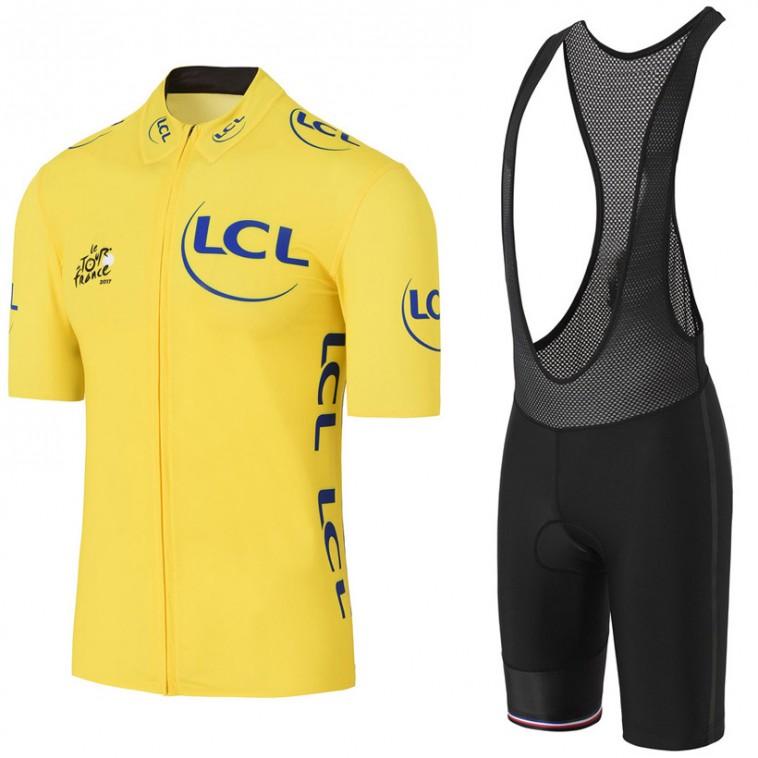 Ensemble cuissard vélo et maillot jaune Tour de France 2017 LCL