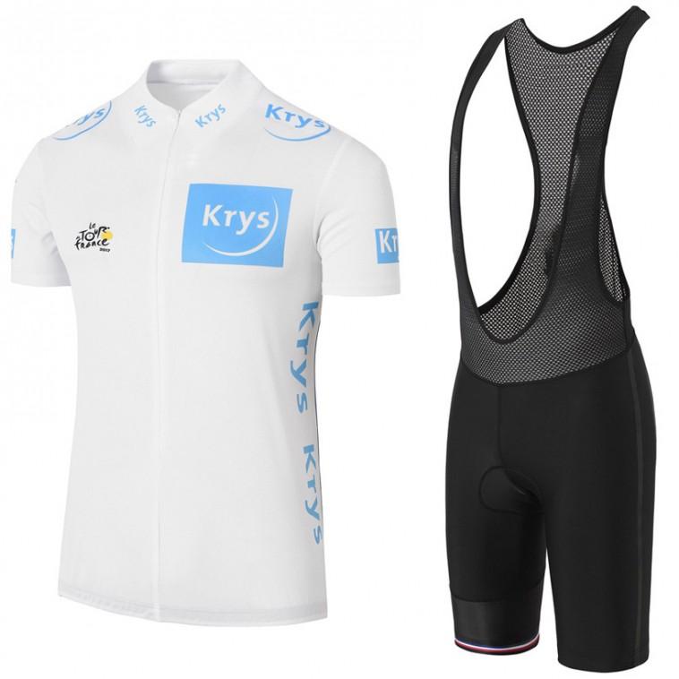 Ensemble cuissard vélo et maillot blanc Tour de France 2017 Krys