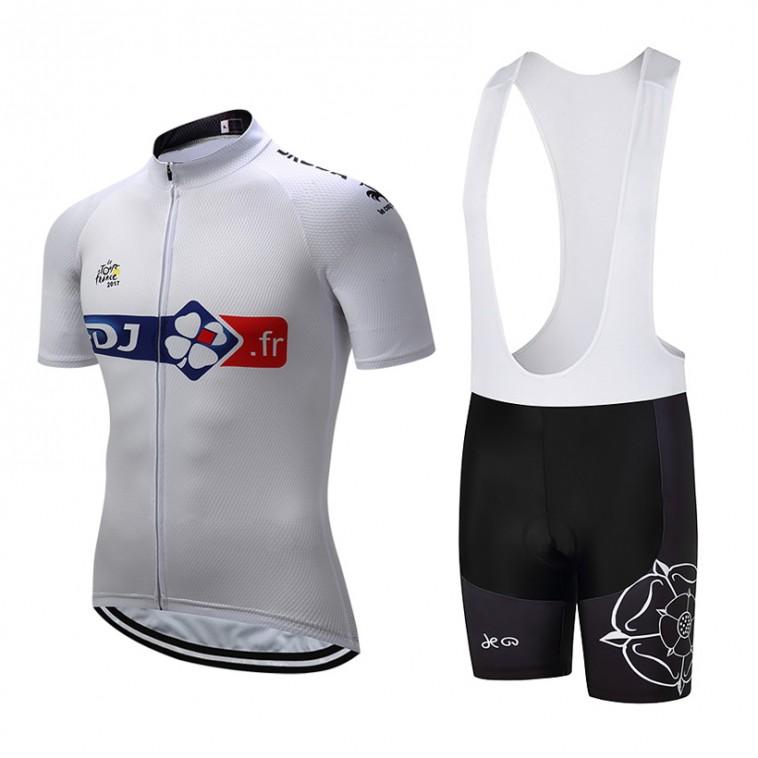 Ensemble cuissard vélo et maillot cyclisme équipe pro FDJ Tour 2017