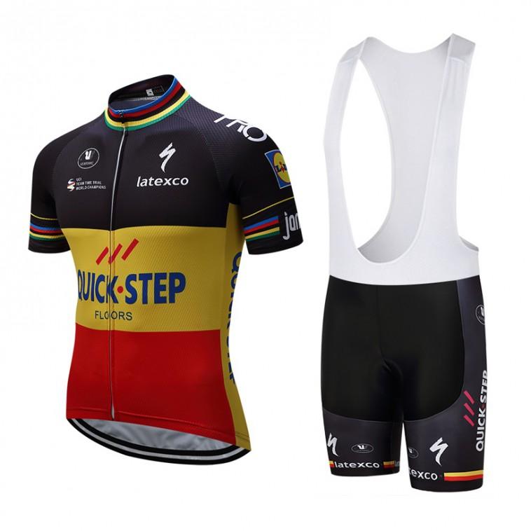 Ensemble cuissard vélo et maillot cyclisme équipe pro Quick Step Floors