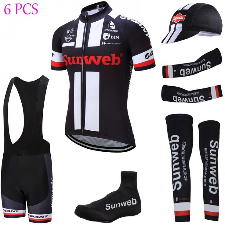 Tenue complète cyclisme équipe pro Sunweb Giant noir 2017