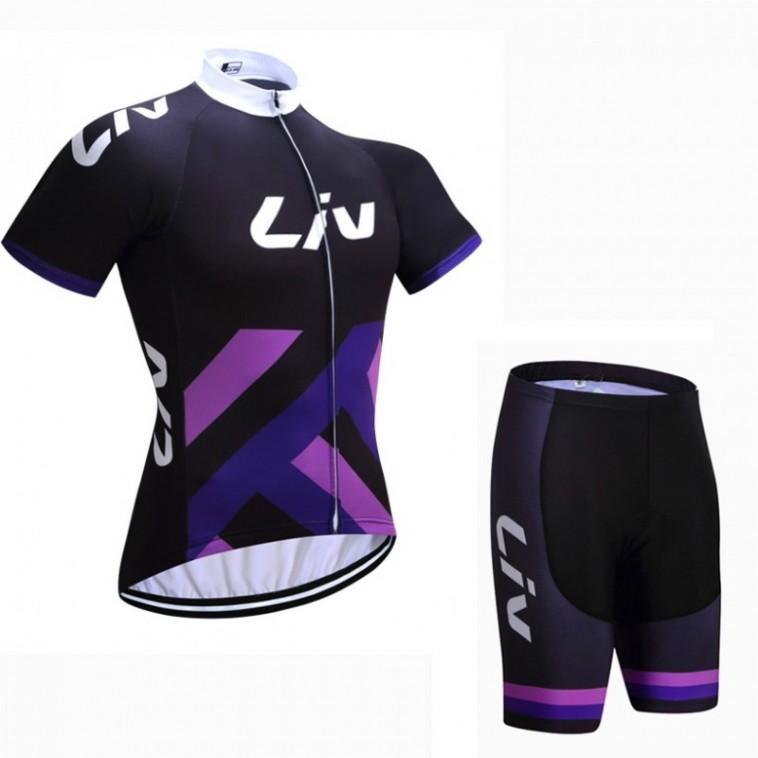 Ensemble cuissard vélo et maillot cyclisme femme Liv