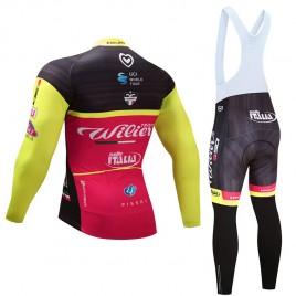 Ensemble cuissard vélo et maillot cyclisme hiver équipe pro Wilier Selle Italia 2017