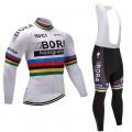 Ensemble cuissard vélo et maillot cyclisme hiver équipe pro Bora Hansgrohe Craft blanc