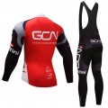 Ensemble cuissard vélo et maillot cyclisme hiver équipe pro GCN