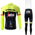 Ensemble cuissard vélo et maillot cyclisme hiver équipe pro Trek Segafredo