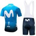 Ensemble cuissard vélo et maillot cyclisme équipe pro Movistar 2018