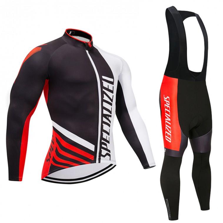 Ensemble cuissard vélo et maillot cyclisme hiver pro Specialized