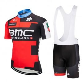 Ensemble cuissard vélo et maillot cyclisme équipe pro BMC Suisse 2018