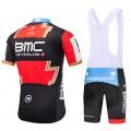 Ensemble cuissard vélo et maillot cyclisme équipe pro BMC Gold 2018