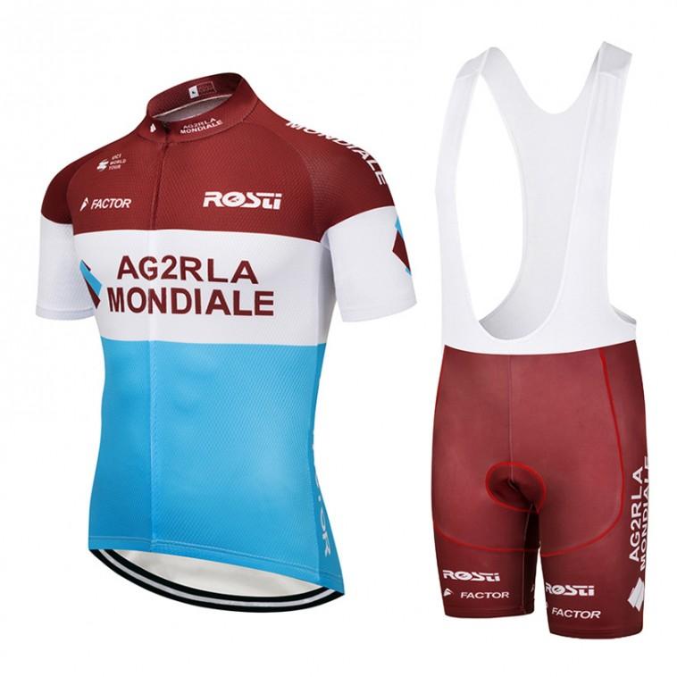 Ensemble cuissard vélo et maillot cyclisme équipe pro AG2R La Mondiale 2018