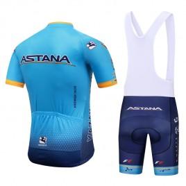 Ensemble cuissard vélo et maillot cyclisme équipe pro Astana 2018