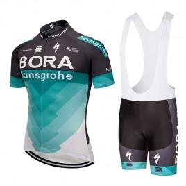 Ensemble cuissard vélo et maillot cyclisme équipe pro Bora Hansgrohe 2018
