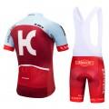 Ensemble cuissard vélo et maillot cyclisme équipe pro Katusha 2018
