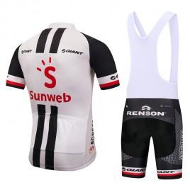 Ensemble cuissard vélo et maillot cyclisme équipe pro Sunweb Giant 2018