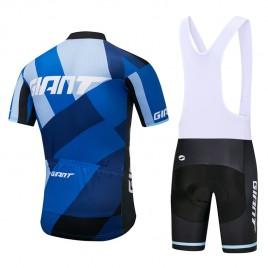 Ensemble cuissard vélo et maillot cyclisme équipe pro Giant 2018 bleu