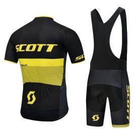 Ensemble cuissard vélo et maillot cyclisme équipe pro Scott Rc Team 2018