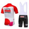 Ensemble cuissard vélo et maillot cyclisme équipe pro Lotto Soudal 2018