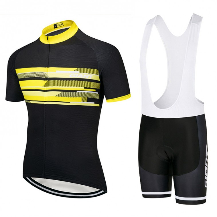 Ensemble cuissard vélo et maillot cyclisme équipe pro Giant 2018 yellow edition