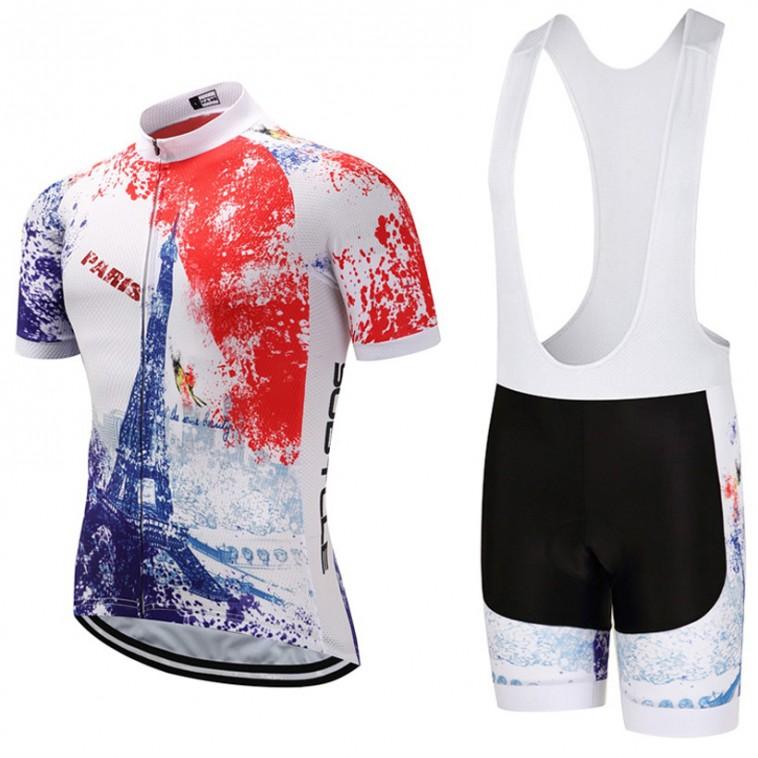 Ensemble cuissard vélo et maillot cyclisme Sobycle 2018 Paris