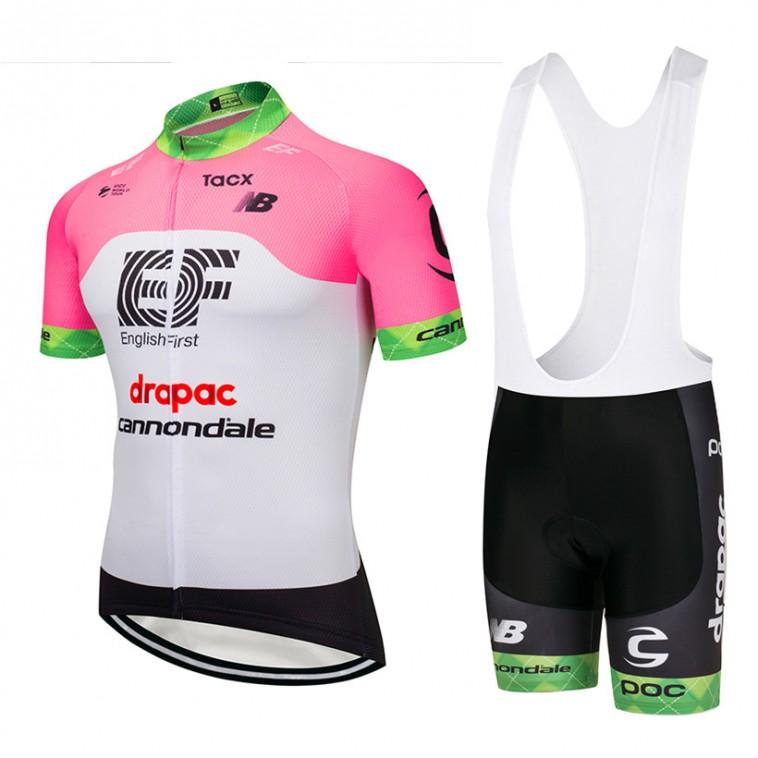 Ensemble cuissard vélo et maillot cyclisme équipe pro Cannondale Drapac 2018