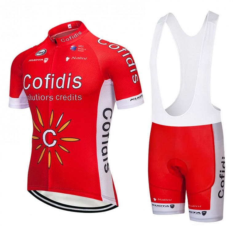 Ensemble cuissard vélo et maillot cyclisme équipe pro Cofidis 2018 Kuota