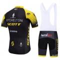 Ensemble cuissard vélo et maillot cyclisme équipe pro Mitchelton - Scott 2018
