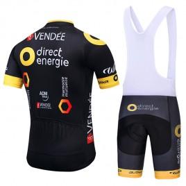 Ensemble cuissard vélo et maillot cyclisme équipe pro Direct Energie 2018
