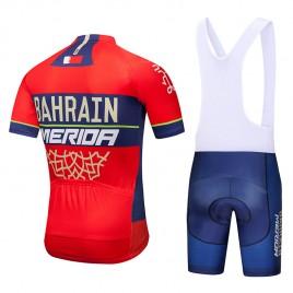 Ensemble cuissard vélo et maillot cyclisme équipe pro Bahrain Merida 2018