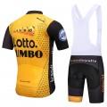 Ensemble cuissard vélo et maillot cyclisme équipe pro Lotto Jumbo 2018