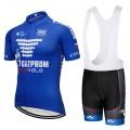 Ensemble cuissard vélo et maillot cyclisme équipe pro Gazprom 2018
