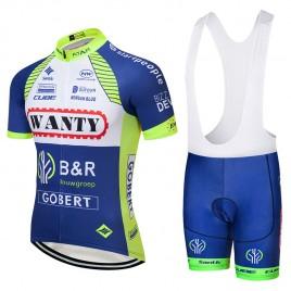 Ensemble cuissard vélo et maillot cyclisme équipe pro Wanty 2018
