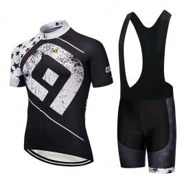 Ensemble cuissard vélo et maillot cyclisme pro ALE Stars blanc 2018