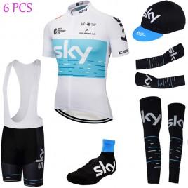 Tenue complète cyclisme équipe pro SKY blanc Tour 2018