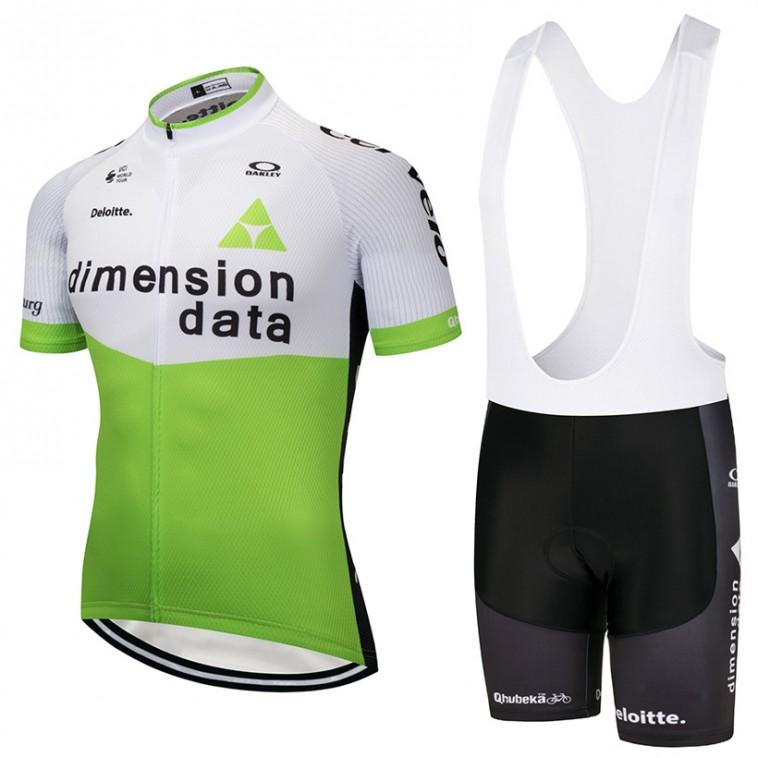 Ensemble cuissard vélo et maillot cyclisme équipe pro Dimension Data 2018