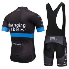 Ensemble cuissard vélo et maillot cyclisme équipe pro TNN 2018