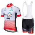 Ensemble cuissard vélo et maillot cyclisme équipe pro BURGOS BH 2018