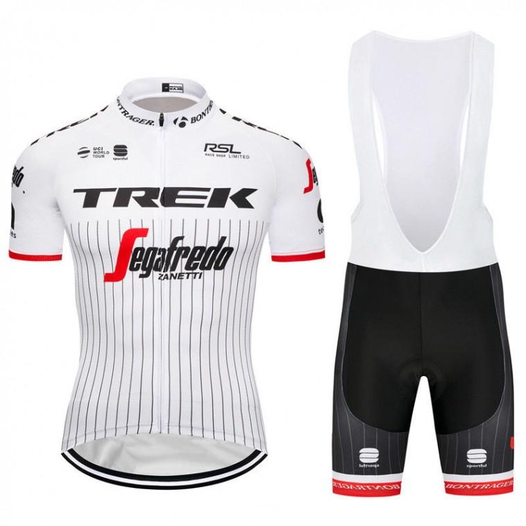 Ensemble cuissard vélo et maillot cyclisme équipe pro Trek Segafredo Tour 2017