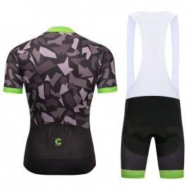 Ensemble cuissard vélo et maillot cyclisme pro Cannondale 2018 camouflage