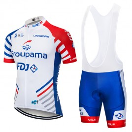 Ensemble cuissard vélo et maillot cyclisme pro GROUPAMA FDJ 2018