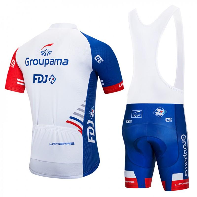 becb96e896894 Ensemble cuissard vélo et maillot cyclisme pro GROUPAMA FDJ 2018 ...