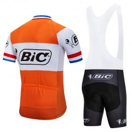 Ensemble cuissard vélo et maillot cyclisme pro vintage BIC