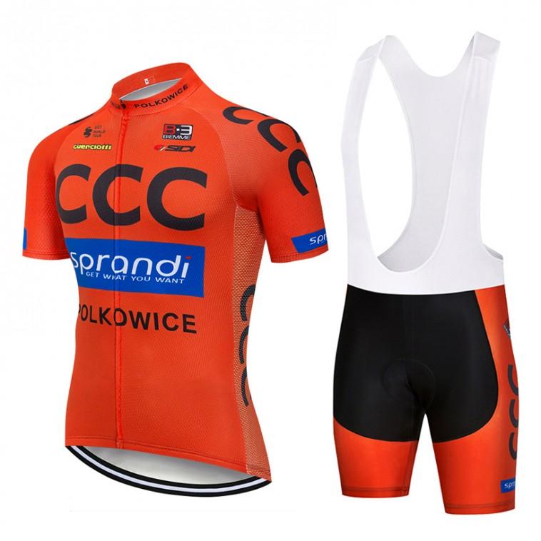 Ensemble cuissard vélo et maillot cyclisme pro CCC Sprandi Polkowice 2018
