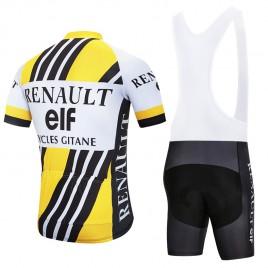 Ensemble cuissard vélo et maillot cyclisme pro vintage RENAULT ELF cycles Gitane