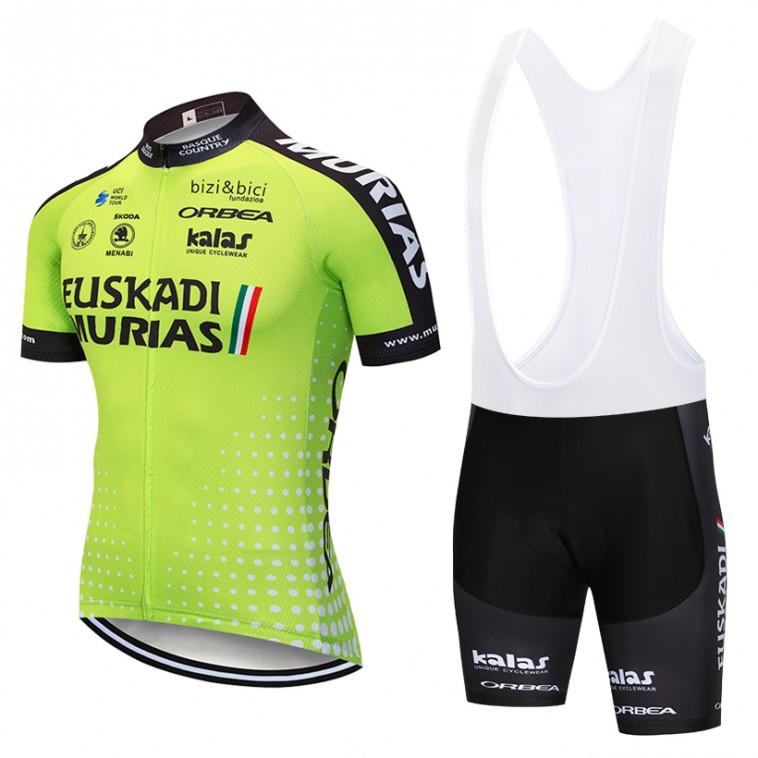 Ensemble cuissard vélo et maillot cyclisme pro EUSKADI Murias 2018